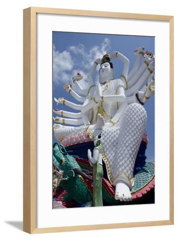 Giant Statue of Kwan Yin, Buddhist Goddess, Wat Plai Laem, Ko Samui, Thailand-Cindy Miller Hopkins-Framed Art Print