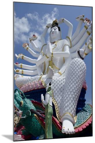Giant Statue of Kwan Yin, Buddhist Goddess, Wat Plai Laem, Ko Samui, Thailand-Cindy Miller Hopkins-Mounted Photographic Print