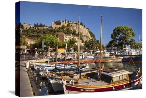 Sailboats in the Harbor of Cassis, Bouches-Du-Rhone, Provence, France-Brian Jannsen-Stretched Canvas Print
