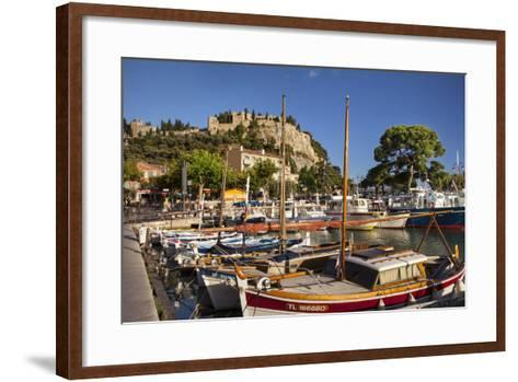 Sailboats in the Harbor of Cassis, Bouches-Du-Rhone, Provence, France-Brian Jannsen-Framed Art Print