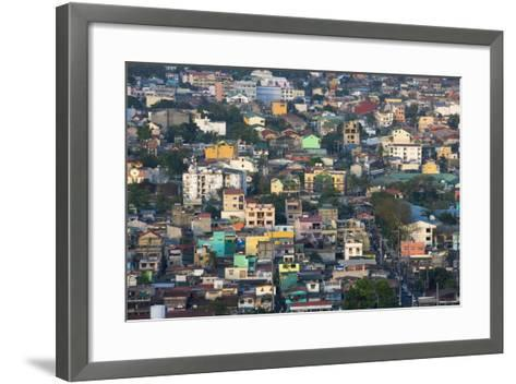 Aerial View of Colorful Houses, Manila, Philippines-Keren Su-Framed Art Print