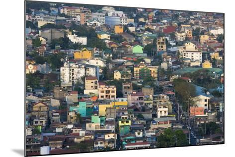 Aerial View of Colorful Houses, Manila, Philippines-Keren Su-Mounted Photographic Print