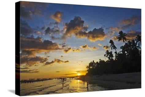 Sunset View of the Beach, Bohol Island, Philippines-Keren Su-Stretched Canvas Print