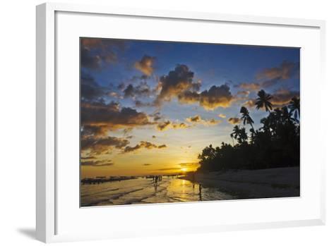 Sunset View of the Beach, Bohol Island, Philippines-Keren Su-Framed Art Print