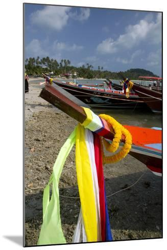 Fishing Boats in the Gulf of Thailand on the Island of Ko Samui, Thailand-David R^ Frazier-Mounted Photographic Print
