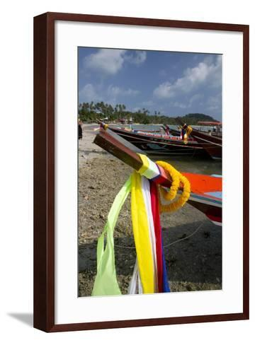 Fishing Boats in the Gulf of Thailand on the Island of Ko Samui, Thailand-David R^ Frazier-Framed Art Print
