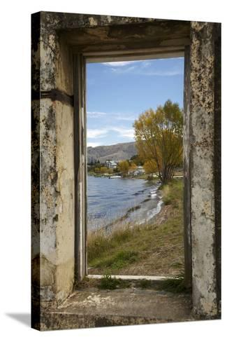 Old Building, Lake Dunstan, Cromwell, Central Otago, South Island, New Zealand-David Wall-Stretched Canvas Print