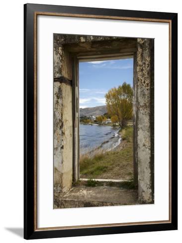 Old Building, Lake Dunstan, Cromwell, Central Otago, South Island, New Zealand-David Wall-Framed Art Print