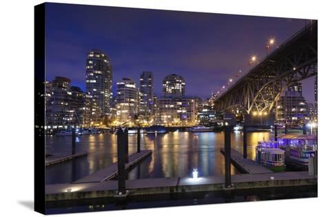 Granville Bridge, Vancouver, British Columbia, Canada-Walter Bibikow-Stretched Canvas Print