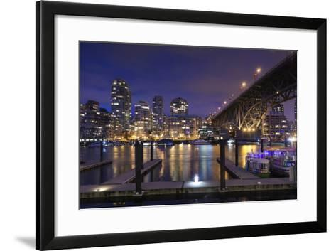 Granville Bridge, Vancouver, British Columbia, Canada-Walter Bibikow-Framed Art Print