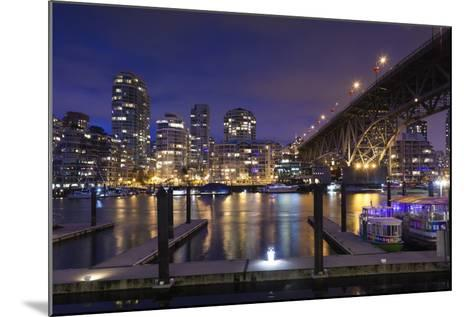Granville Bridge, Vancouver, British Columbia, Canada-Walter Bibikow-Mounted Photographic Print