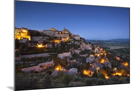 Twilight over Medieval Village of Gordes, Provence, France-Brian Jannsen-Mounted Photographic Print
