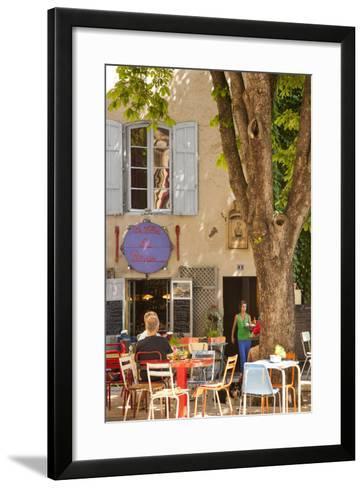 Outdoor Cafe in the Town of Saint Remy De-Provence, France-Brian Jannsen-Framed Art Print