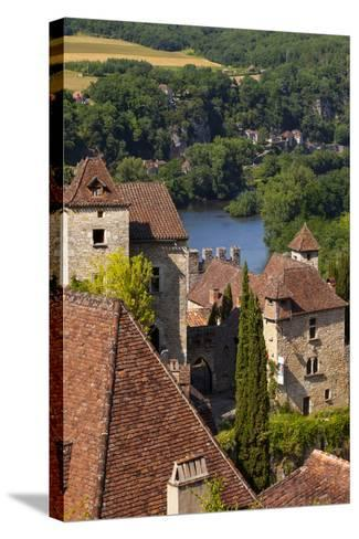 Saint-Cirq-Lapopie in the Lot Valley, Midi-Pyrenees, France-Brian Jannsen-Stretched Canvas Print