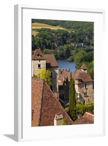 Saint-Cirq-Lapopie in the Lot Valley, Midi-Pyrenees, France-Brian Jannsen-Framed Art Print