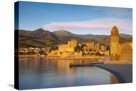 Dawn over Town of Collioure, Pyrenees-Orientales, Languedoc-Roussillon, France-Brian Jannsen-Stretched Canvas Print