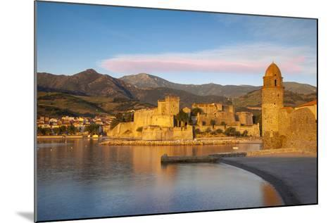 Dawn over Town of Collioure, Pyrenees-Orientales, Languedoc-Roussillon, France-Brian Jannsen-Mounted Photographic Print