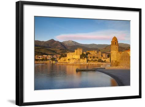 Dawn over Town of Collioure, Pyrenees-Orientales, Languedoc-Roussillon, France-Brian Jannsen-Framed Art Print