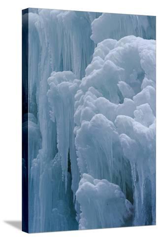 Winter Ice, Partnachklamm (Partnach Creek Gorge), Bavaria, Germany-Martin Zwick-Stretched Canvas Print