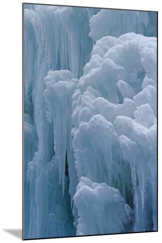 Winter Ice, Partnachklamm (Partnach Creek Gorge), Bavaria, Germany-Martin Zwick-Mounted Photographic Print