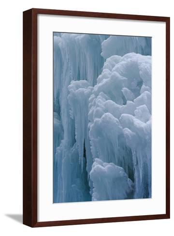 Winter Ice, Partnachklamm (Partnach Creek Gorge), Bavaria, Germany-Martin Zwick-Framed Art Print