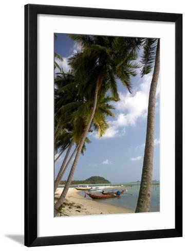 Fishing Boat in the Gulf of Thailand on the Island of Ko Samui, Thailand-David R^ Frazier-Framed Art Print