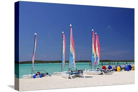 Sailing Rentals, Beach, Castaway Cay, Bahamas, Caribbean-Kymri Wilt-Stretched Canvas Print