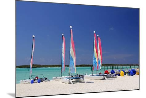 Sailing Rentals, Beach, Castaway Cay, Bahamas, Caribbean-Kymri Wilt-Mounted Photographic Print