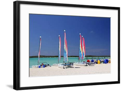 Sailing Rentals, Beach, Castaway Cay, Bahamas, Caribbean-Kymri Wilt-Framed Art Print