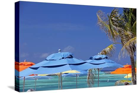 Umbrellas and Shade at Castaway Cay, Bahamas, Caribbean-Kymri Wilt-Stretched Canvas Print