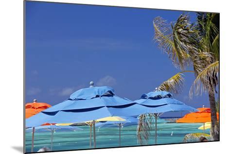 Umbrellas and Shade at Castaway Cay, Bahamas, Caribbean-Kymri Wilt-Mounted Photographic Print
