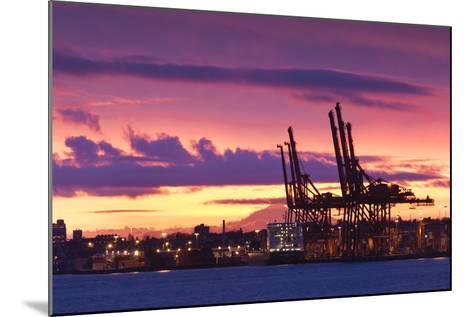 Cargo Cranes, Port of Vancouver, Vancouver, British Columbia, Canada-Walter Bibikow-Mounted Photographic Print