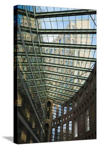 Vancouver Public Library, Vancouver, British Columbia, Canada-Walter Bibikow-Stretched Canvas Print