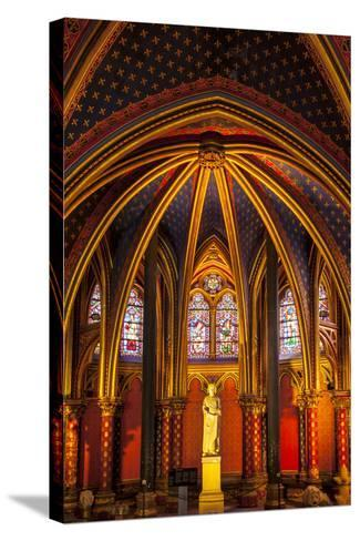 The Lower Chapel, Sainte Chapelle, Paris, France-Brian Jannsen-Stretched Canvas Print