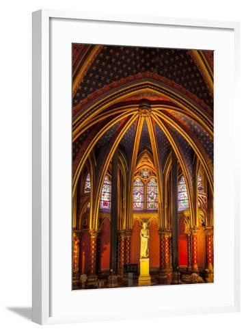 The Lower Chapel, Sainte Chapelle, Paris, France-Brian Jannsen-Framed Art Print