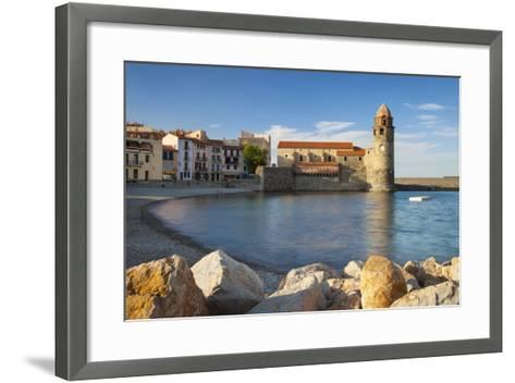 Eglise Notre Dame Des Anges Church, Collioure, Languedoc-Roussillon, France-Brian Jannsen-Framed Art Print