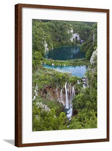 Plitvice Lakes in the National Park Plitvicka Jezera, Croatia-Martin Zwick-Framed Art Print