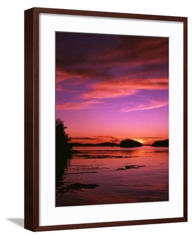 View of Beach at Sunset, Vancouver Island, British Columbia-Stuart Westmorland-Framed Art Print