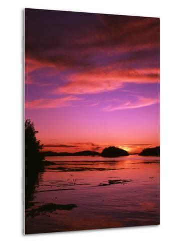 View of Beach at Sunset, Vancouver Island, British Columbia-Stuart Westmorland-Metal Print
