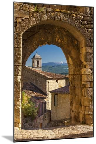 Stone Gate in Lacoste with Mount Ventoux Beyond, Provence, France-Brian Jannsen-Mounted Photographic Print