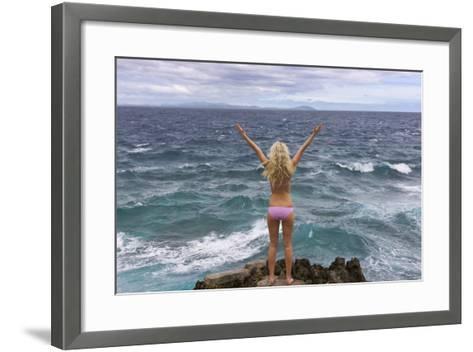Tourist on the Beach, Travel, Boracay Island, Aklan Province, Philippines-Keren Su-Framed Art Print