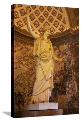 Greek Statue of Athena on Display at Musee Du Louvre, Paris, France-Brian Jannsen-Stretched Canvas Print