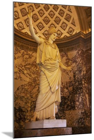 Greek Statue of Athena on Display at Musee Du Louvre, Paris, France-Brian Jannsen-Mounted Photographic Print