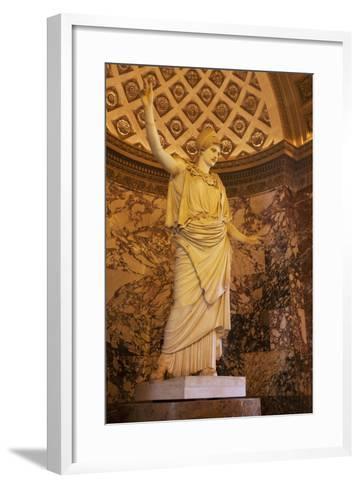 Greek Statue of Athena on Display at Musee Du Louvre, Paris, France-Brian Jannsen-Framed Art Print