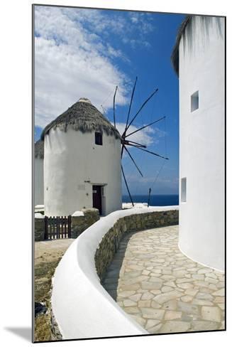 Iconic Windmills, Chora, Mykonos, Greece-David Noyes-Mounted Photographic Print