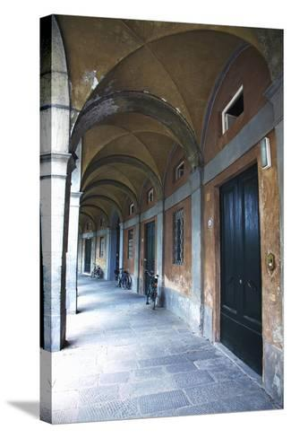 Arched Hallway, Lucca, Italy-Terry Eggers-Stretched Canvas Print