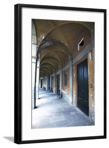 Arched Hallway, Lucca, Italy-Terry Eggers-Framed Art Print