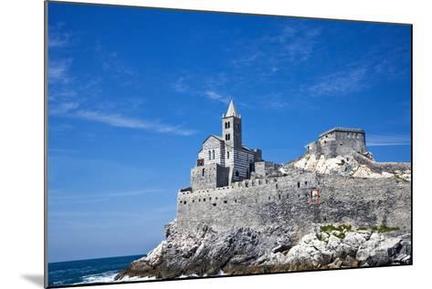 Church of San Pietro, Entrance to the Harbor, Portovenere, Italy-Terry Eggers-Mounted Photographic Print