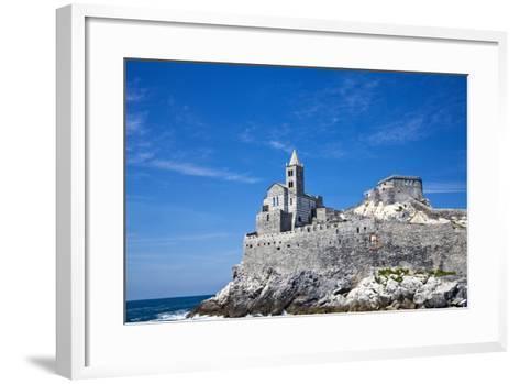 Church of San Pietro, Entrance to the Harbor, Portovenere, Italy-Terry Eggers-Framed Art Print