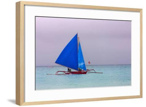 Sailing in the Ocean, Boracay Island, Aklan Province, Philippines-Keren Su-Framed Art Print